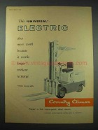1959 Coventry Climax Forklift Ad - Universal Electric