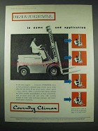 1958 Coventry Climax Universal Forklift Ad - in Name