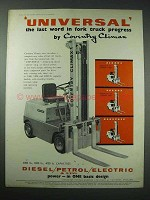 1958 Coventry Climax Universal Forklift Ad - Progress