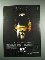 1999 Montblanc Meisterstuck Pen Ad - 75 Years