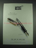 1998 Montblanc Meisterstuck Solitaire Silver Pen Ad