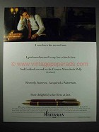 1988 Waterman Pen Ad - I Was Born the Second Son