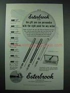 1954 Esterbrook Pen Ad - The Gift You Can Personalize