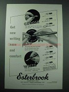 1954 Esterbrook Pen Ad - New Writing Ease and Comfort