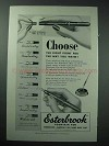 1952 Esterbrook Fountain Pen Ad - Choose Right Point