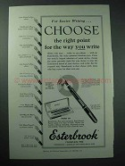 1951 Esterbrook Pocket Set Pen Ad - Right Point