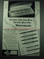 1936 Waterman Ink-Vue Pen Ad - Better Gifts