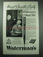 1934 Waterman Pen Ad - Howard Chandler Christy