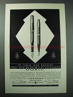 1931 Eversharp Doric Pen and Pencil Ad - Who Receive