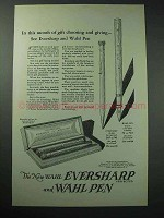 1925 Eversharp Pencil, Wahl Pen Ad - Gift Choosing