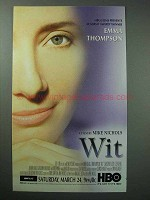 2001 Wit HBO Movie Ad - Emma Thompson