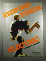 1980 Electric Movie Ad - Redford, Fonda