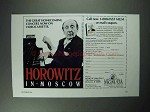 1986 Horowitz in Moscow Video Ad - Vladimir Horowitz