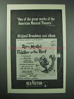 1966 Fiddler on the Roof Broadway Cast Album Ad
