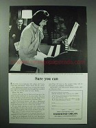 1965 Hammond Spinet Organ Ad - Sure You Can