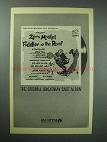 1964 Fiddler on the Roof Broadway Cast Album Ad