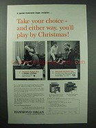 1960 Hammond Organ Ad - You'll Play By Christmas