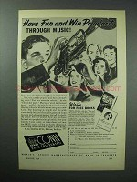 1946 Conn Band Instruments Ad - Win Popularity