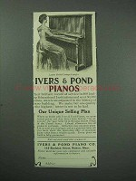 1913 Ivers & Pond Cottage Upright Piano Ad