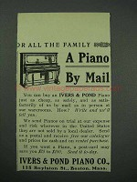 1913 Ivers & Pond Piano Ad - A Piano By Mail