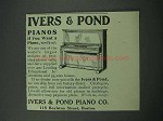 1913 Ivers & Pond Piano Ad