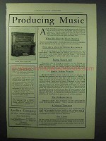1898 Aeolian Grand Player Piano Ad - Producing Music