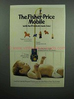 1973 Fisher-Price Mobile Toy Ad