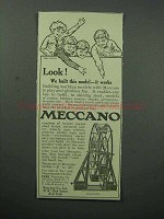 1913 Meccano Toy Ad - We Built This Model, It Works