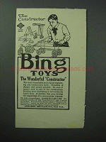 1913 Bing Toys Ad - The Constructor