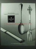 1990 Christofle Silverware Ad - Stands Alone