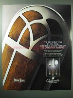 1987 Christofle Talisman Silverware Ad, Chinese Lacquer