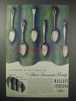1950 Wallace Silverware Ad - Grand Colonial +