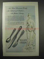 1948 Wallace Rose Point Sterling Silver Silverware Ad