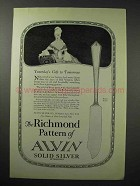 1923 Alvin Silver Richmond Pattern Ad - Butter Knife