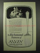 1923 Alvin Silver Richmond Pattern Ad - Cold Meat Fork