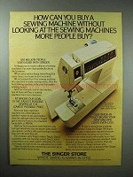 1980 Singer Touch-Tronic Sewing Machine Ad