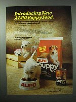 1985 Alpo Puppy Food Ad