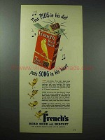 1951 French's Bird Seed and Biscuit Ad - Song in Heart