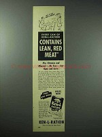 1948 Ken-L Ration Dog Food Ad - Lean, Red Meat