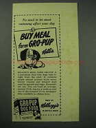 1943 Kellogg's Gro-Pup Dog Food Ad - Meat Rationing