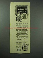 1942 Friskies Dog Food Ad - Why The Complete Food