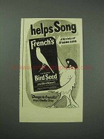1940 French's Bird Seed Ad - Helps Song - Charlie Chirp
