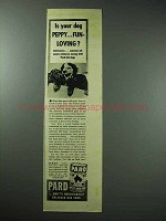 1939 Pard Dog Food Ad - Your Dog Peppy, Fun-loving?