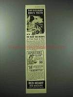 1938 Red Heart Dog Biscuits Ad - Safeguard Teeth