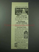 1913 Purina Chicken Chowder Ad - Chicken Feed