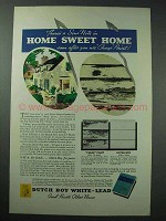 1935 Dutch Boy White-Lead Paint Ad - Home Sweet Home