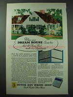 1935 Dutch Boy White-Lead Paint Ad - Your Dream House