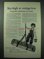 1926 Dutch Boy White-Lead Paint Ad - Sky-High