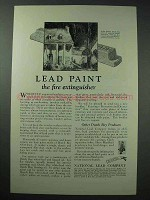 1925 Dutch Boy Lead Paint Ad - The Fire Extinguisher