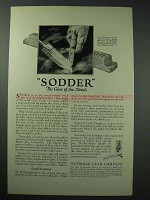 1925 Dutch Boy Paint Solder Ad - Sodder Glue of Metals